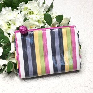 Neiman Marcus Collection - Striped Makeup Bag